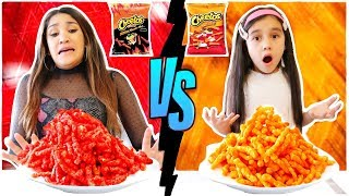 SPICY VS NON SPICY CHIPS CHALLENGE *WIN MYSTERY PRIZE* | Jancy Family