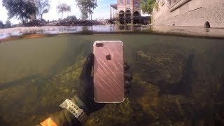 Found Lost iPhone Underwater in River While Snorkeling! (Freediving)