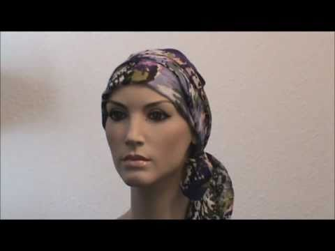 How to tie a cancer scarf