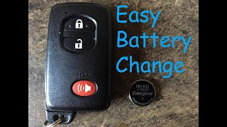 Prius Toyota Smart Key EASY Battery Replacement