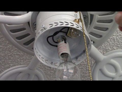 Ceiling Fan Pull Switch Repair - How to repair fan with single light fixture