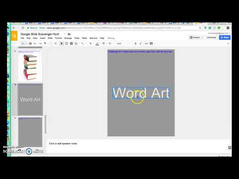 Google slides insert word art