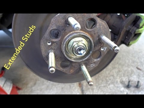 How To Install Extended Wheel Studs on the Rear 2000 Honda Accord