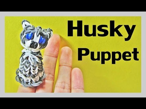 Rainbow Loom Dog / HUSKY Finger Puppet Tutorial