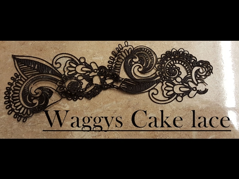 How to use a lace mat, cake lace Waggys cake lace tutorial