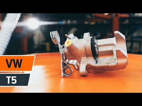 How to replace rear brake caliper VOLKSWAGEN T5 TUTORIAL | AUTODOC