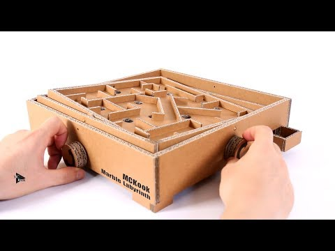 How to Make Marble Labyrinth Game   Amazing Cardboard Board Game
