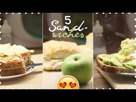 five (weird?) SANDWICHES 🥑🧀