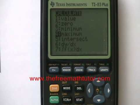 Using the TI-83 Plus Graphing Calculator Part 2 - Quadratic Functions