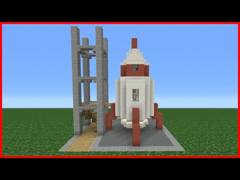 Minecraft Tutorial: How To Make A Rocket Ship