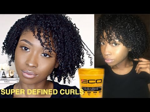 HOLY GRAIL PRODUCT! I TRIED THE NEW $18 ECO STYLE GOLD GEL to define my curls! CURLY HAIR ROUTINE!