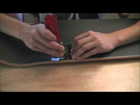 Custom Skateboard Grip Tape- Sticker Inlay