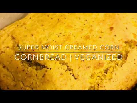 Super Moist Creamed Corn Cornbread | Veganized