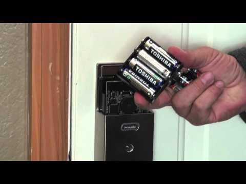 Schlage Touchscreen Deadbolt   How to Change Batteries