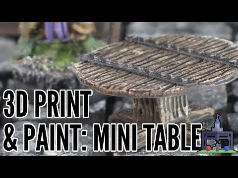 Your First 3D Printed Mini: Round Table (Beginner Friendly Scatter)