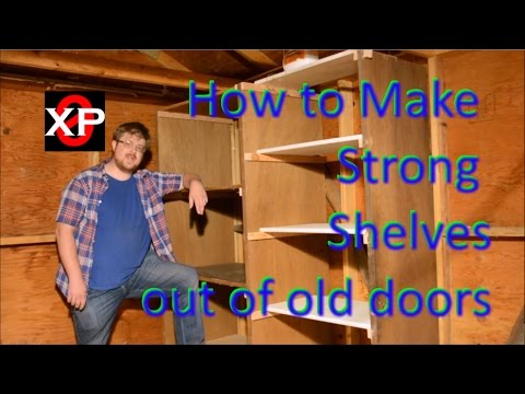 Shelving out of Old Doors, How to make
