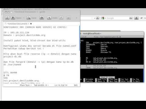 Konfigurasi DNS Server di CentOS
