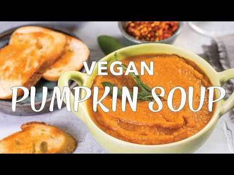 PUMPKIN SAGE SOUP | VEGAN Pumpkin Soup Recipe | Collab with Abbey's Kitchen | The Edgy Veg