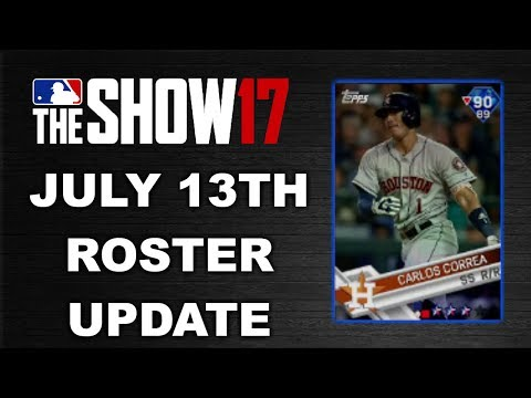 JULY 13TH ROSTER UPDATE | MLB 17 THE SHOW DIAMOND DYNASTY