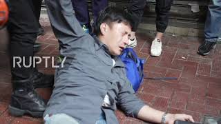 Hong Kong: Scuffles and arrests during protest on 1st day under new security law