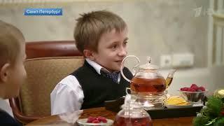 Президент помог «хрустальному» мальчику увидеть Санкт Петербург с высоты птичьего полета