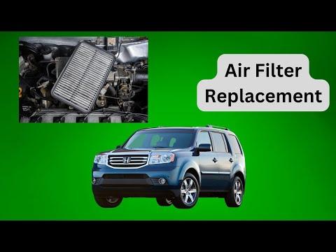 2009 through 2015 - Honda Pilot - Engine Air Filter Replacement