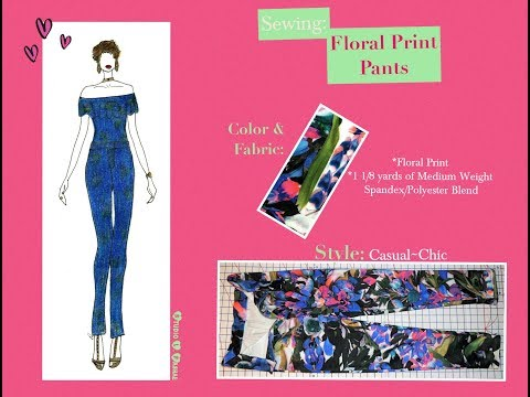 How to Sew Floral Print Pants