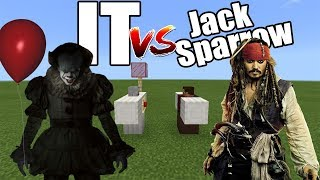 IT vs Captain Jack Sparrow | Minecraft PE