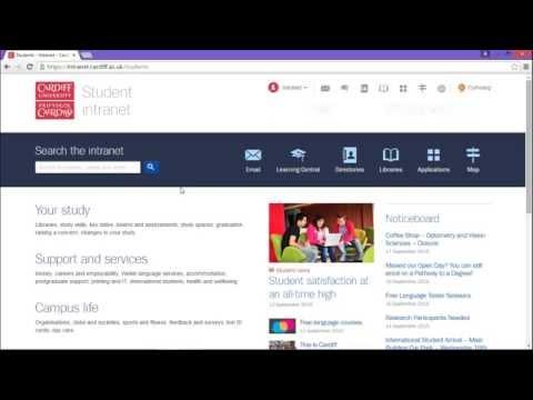 Cardiff University student intranet