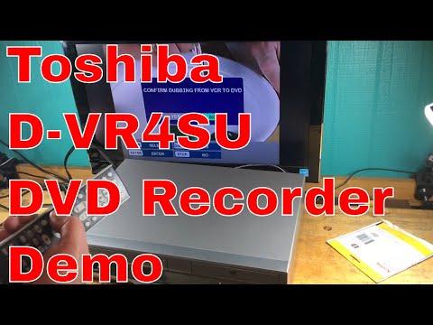 Toshiba D-VR4SU VCR VHS DVD COMBO Player Recorder Dubbing Remote DVD RECORDER
