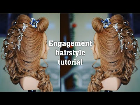 best engagement hair style | bridal hairstyle |  (magic techniques by chandra prakash patel)