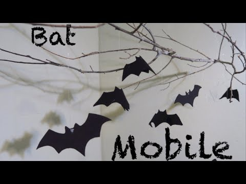 How To Make A Bat Mobile  Halloween Decoration!!!