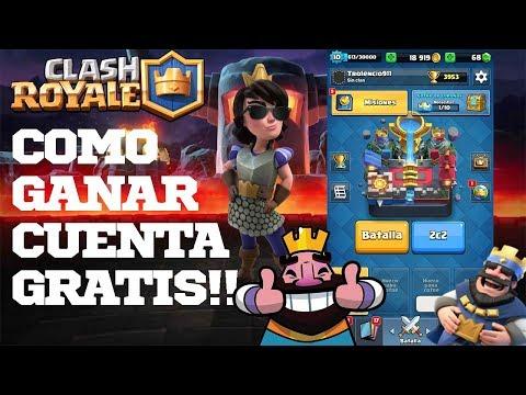 ¿Como ganar una cuenta de clash royale GRATIS? ¿SORTEO DE TARJETAS DE GOOGLE PLAY?