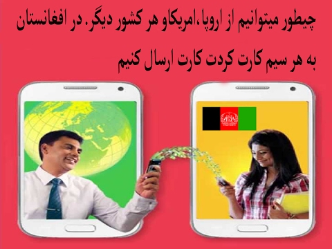 How to send mobile balance to Afghanistan