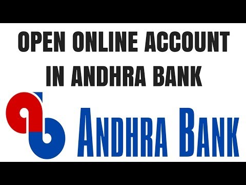 Andhra Bank zero balance account opening online | How to open Andhra bank account online