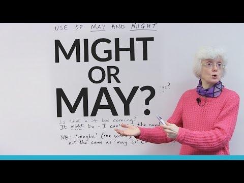 MAY or MIGHT?