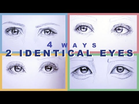 How To Draw 2 Identical Eyes // 4 Ways