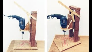 Make A Homemade Drill Press Stand || DIY Homemade Drill Press