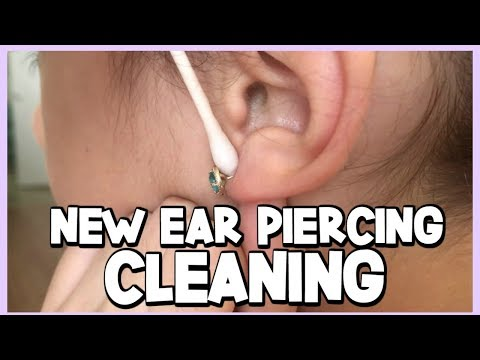 HOW TO CLEAN YOUR NEWLY PIERCED EARS - Ear Piercing Aftercare
