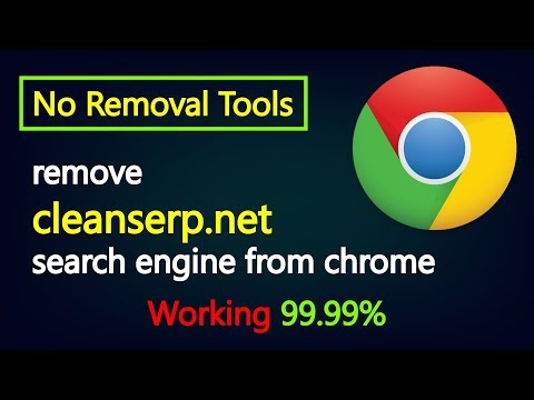How to remove cleanserp.net search engine from chrome