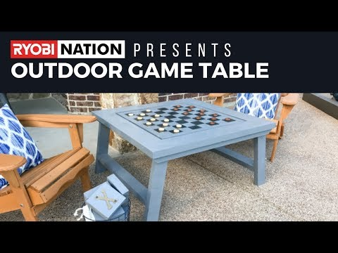 RYOBI Nation DIY Game Table by Shanty 2 Chic