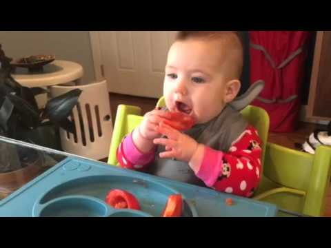 Baby led weaning - tomato and ricotta