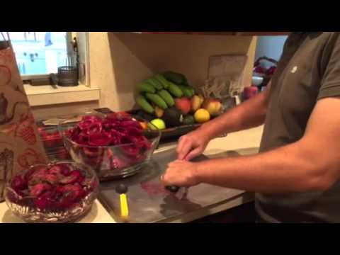 The easiest way to peel a prickly pear cactus fruit