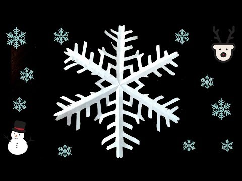 Easy Paper Snowflake Cutting- Paper Crafts For Kids
