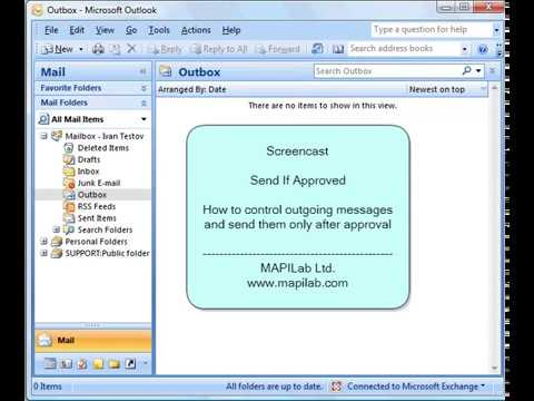 Send If Approved: control outgoing Outlook messages