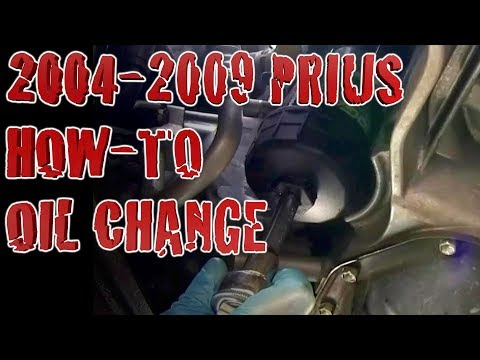 How To Change Your Oil Toyota Prius 2007 DIY