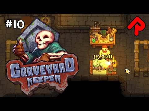 Making an ALCHEMY BENCH!   Let's play GRAVEYARD KEEPER gameplay ep 10 (Alpha)