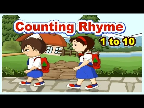 One Two I Go To School Poem | 1 to 10 Counting Song | English Rhymes For Children | Kids Songs