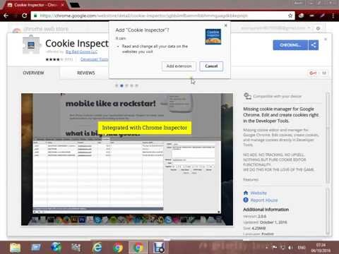 How to remove edit and create cookie using cookie inspector Chrome exetension