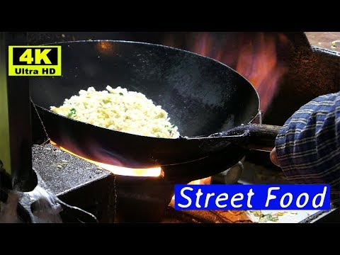 Chicken Fried Rice Chao Fan 炒饭  with Egg: Authentic Chinese Street Food(4K) | #mTube Foods